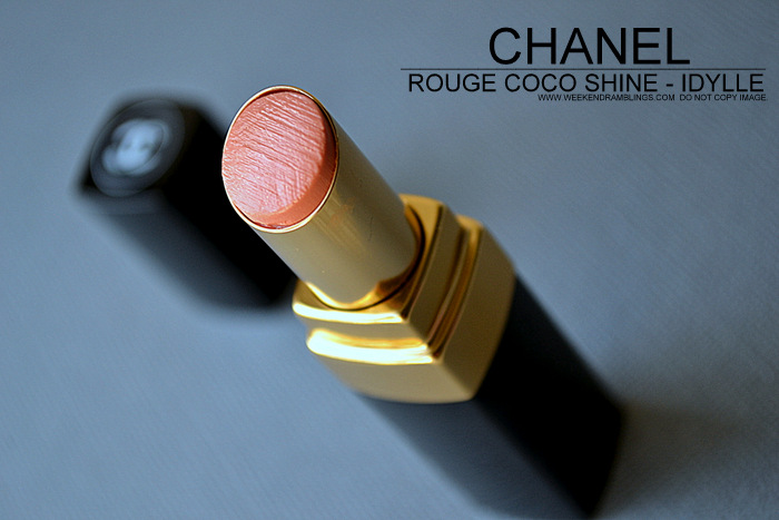 Rouge Coco Shine Lipstick Idylle 457 - Review Photos Swatches FOTD - LEte Papillon de Chanel Makeup Collection Summer 2013