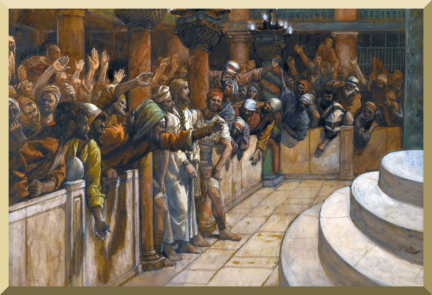 """The False Witnesses"" -- by James Tissot"