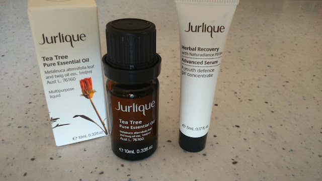 Jurlique Herbal Recovery Advanced Serum and Tea Trea Pure Essential Oil