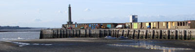 Margate breakwater (with arty-painted doors)