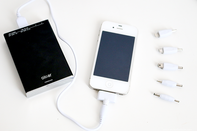 Blogger essential device - portable charger to charge your phone on the go