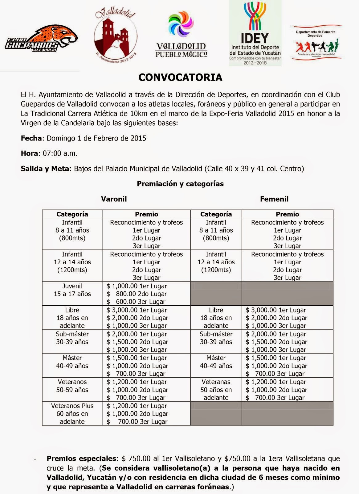 Carrera de la Candelaria 2015