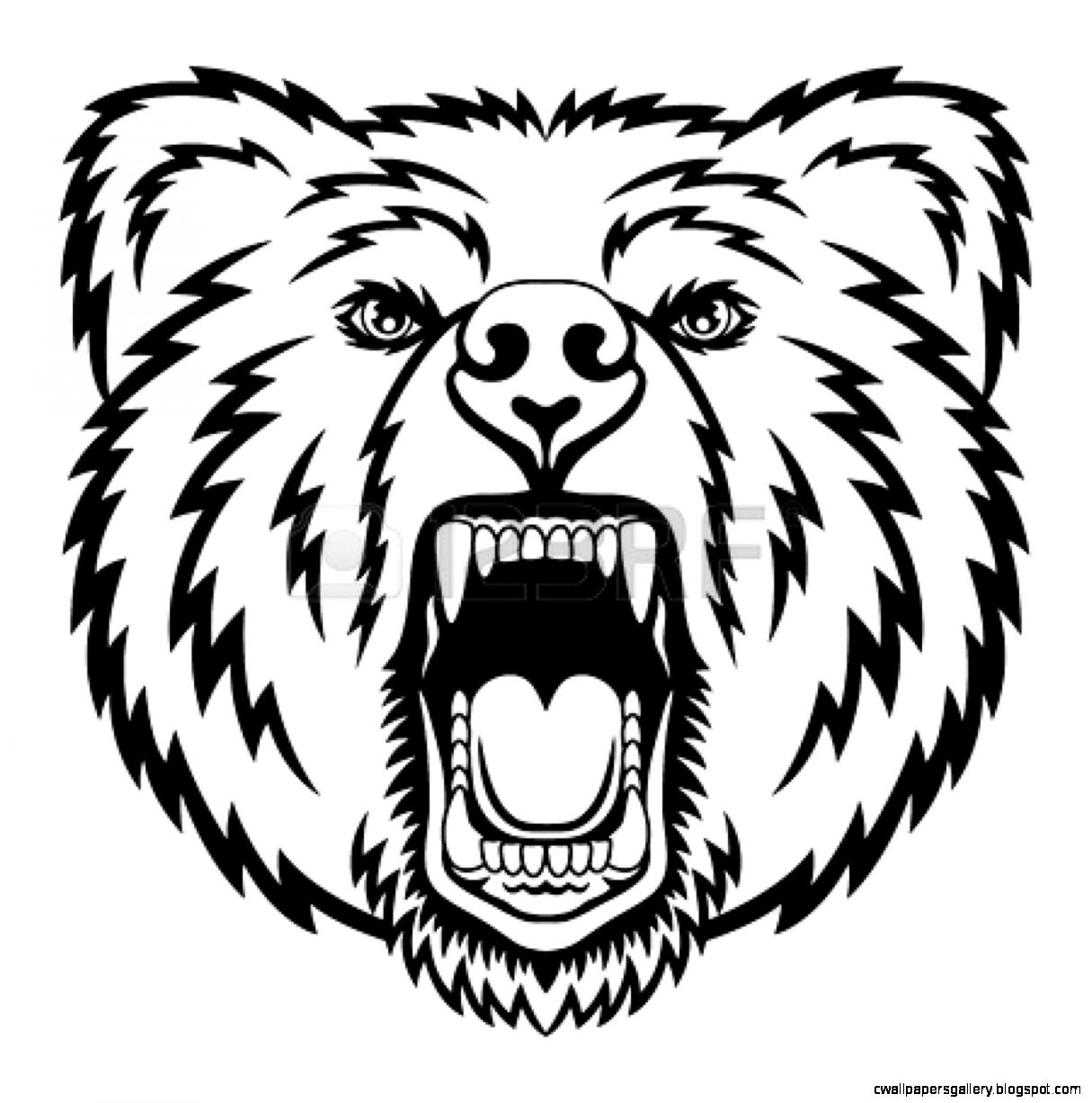 Clipart Growling Bear In Black And White Royalty Free Vector likewise How To Choose Unique Tribal Tattoo likewise 2 besides Sketch Of A Bear Standing further Cross With Wings Tattoo Designs. on scary grizzly bear cartoon