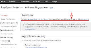 http://ketikwww.blogspot.com/2013/07/cara-cek-kecepatan-blog.html
