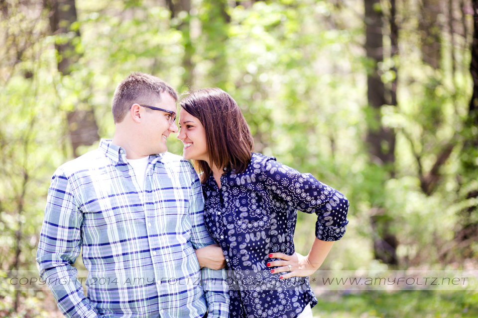 engagement photo at Deming Park - Terre Haute photographer