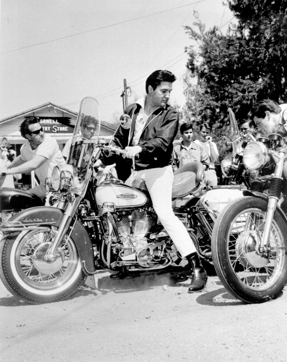 Elvis Presley On Motorcycle