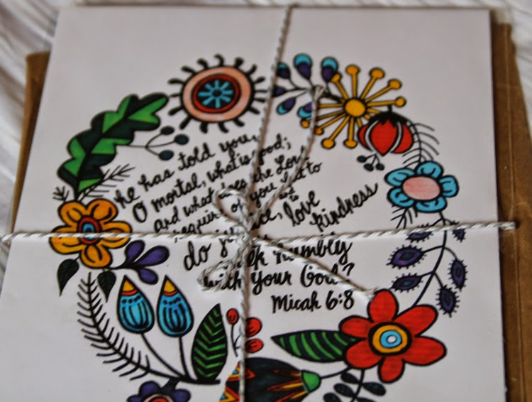 Micah 6:8 print flowers  With Love by Megan