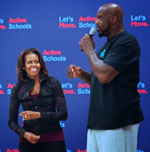 FLOTUS & SHAQ Promote Let's Move! Active Schools
