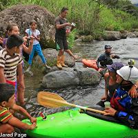 Columbia side of river dringing alchol locals, kayak whitewater Chris Baer WhereIsBaer.com