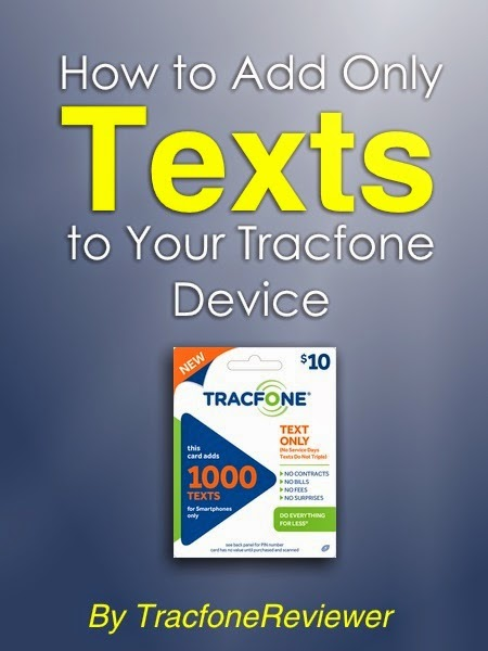 get more texts for tracfone