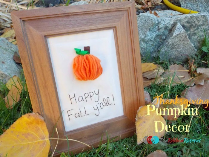 Thanksgiving felt pumpkin decor