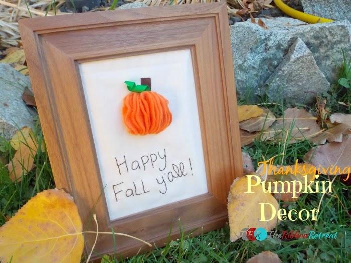 Thanksgiving felt pumpkin decor