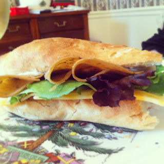 French Bread Tofurky Sandwich