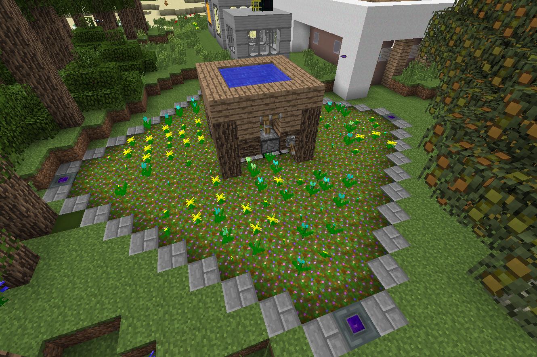 Фото с цветами в minecraft