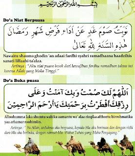 Doa Berbuka Puasa dan Doa Niat Berpuasa