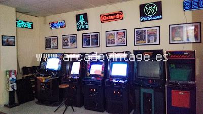 camisetas arcade, neones arcade, www.arcadevintage.es