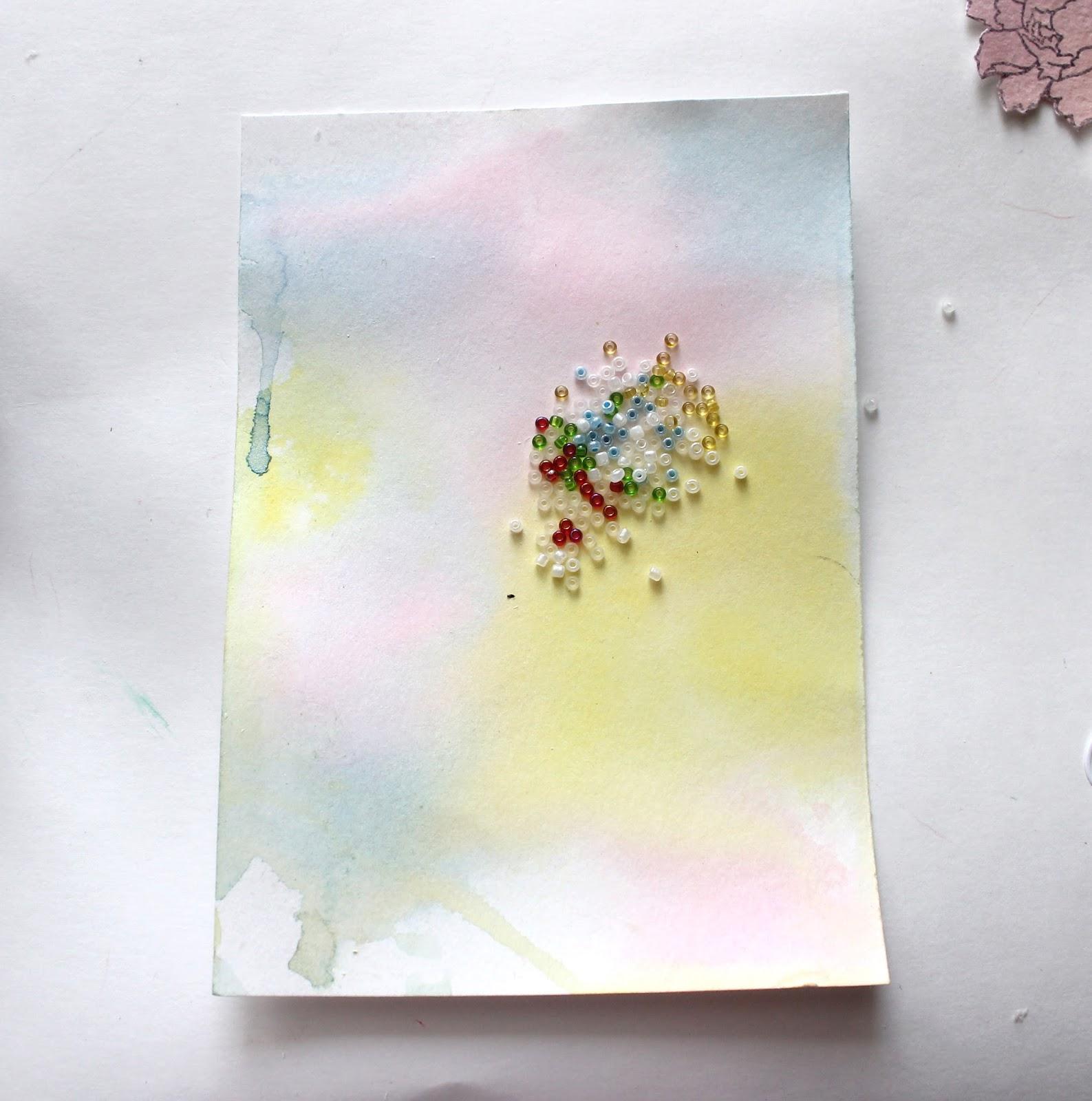Как сделать акварельную открытку