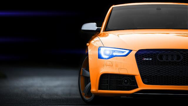 Audi RS5 Orange HD Wallpaper
