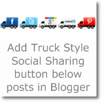 Add Truck style Social Sharing button below posts in Blogger