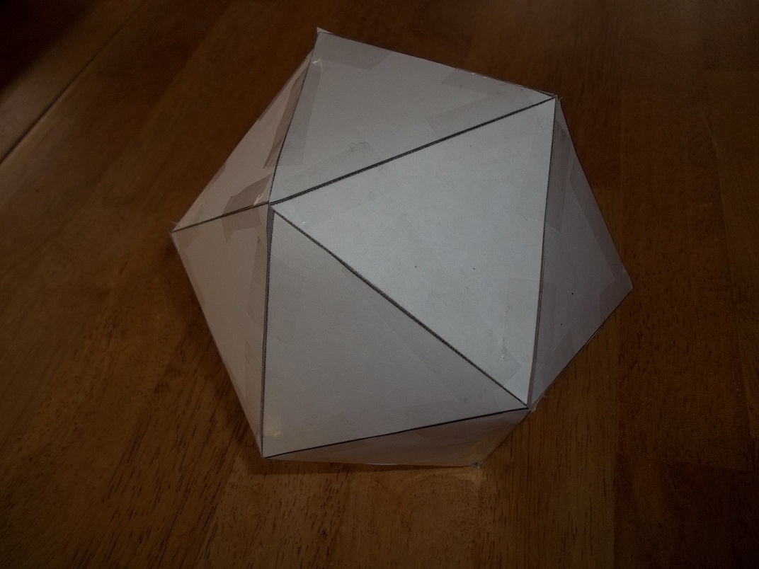 She Creates Stuff Building An Icosahedron D20 20 Sided Die