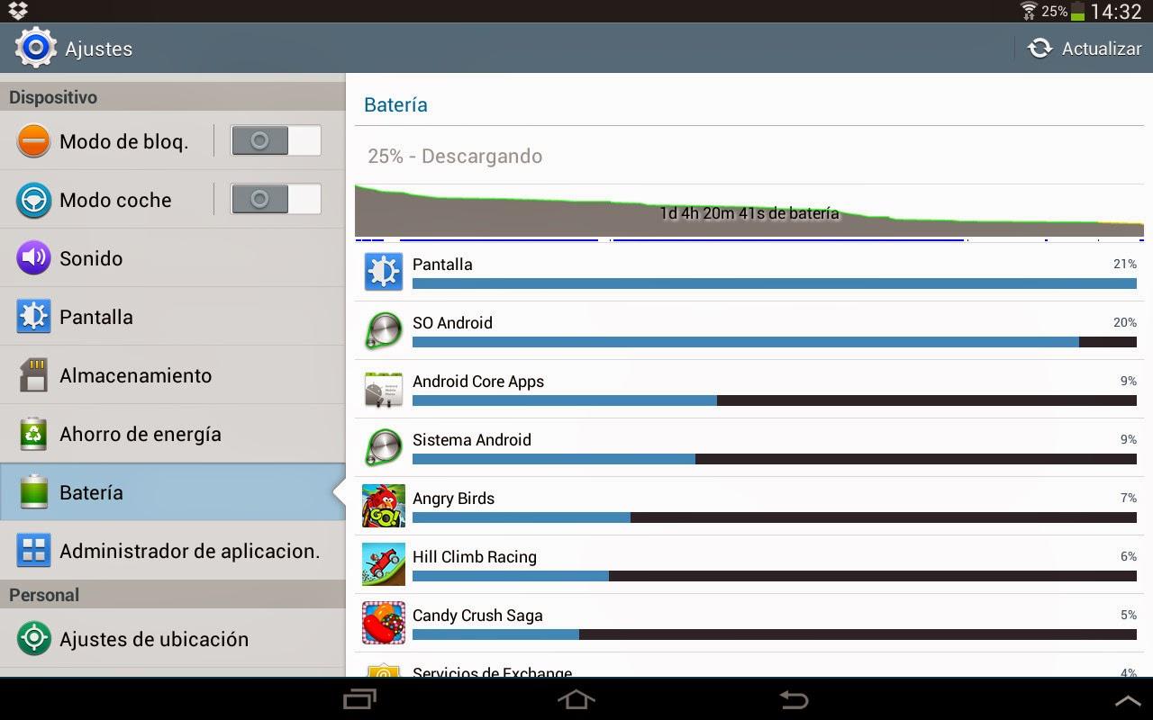 Como ahorrar batería en un dispositivo Android