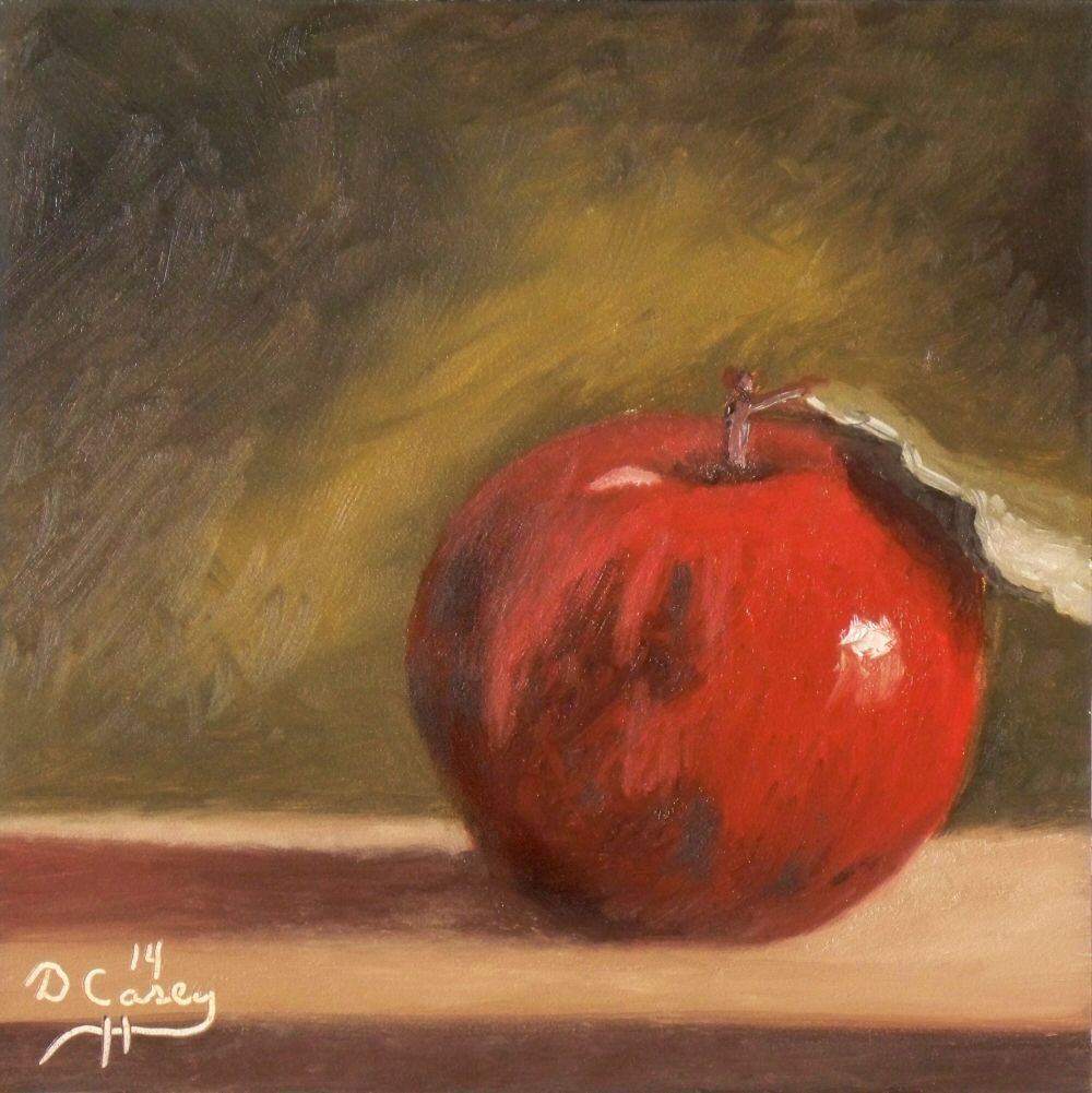 Kitchen Painting - Apple 004a 6x6 oil on gessobord - Dave Casey - TheDailyPainter.jpg