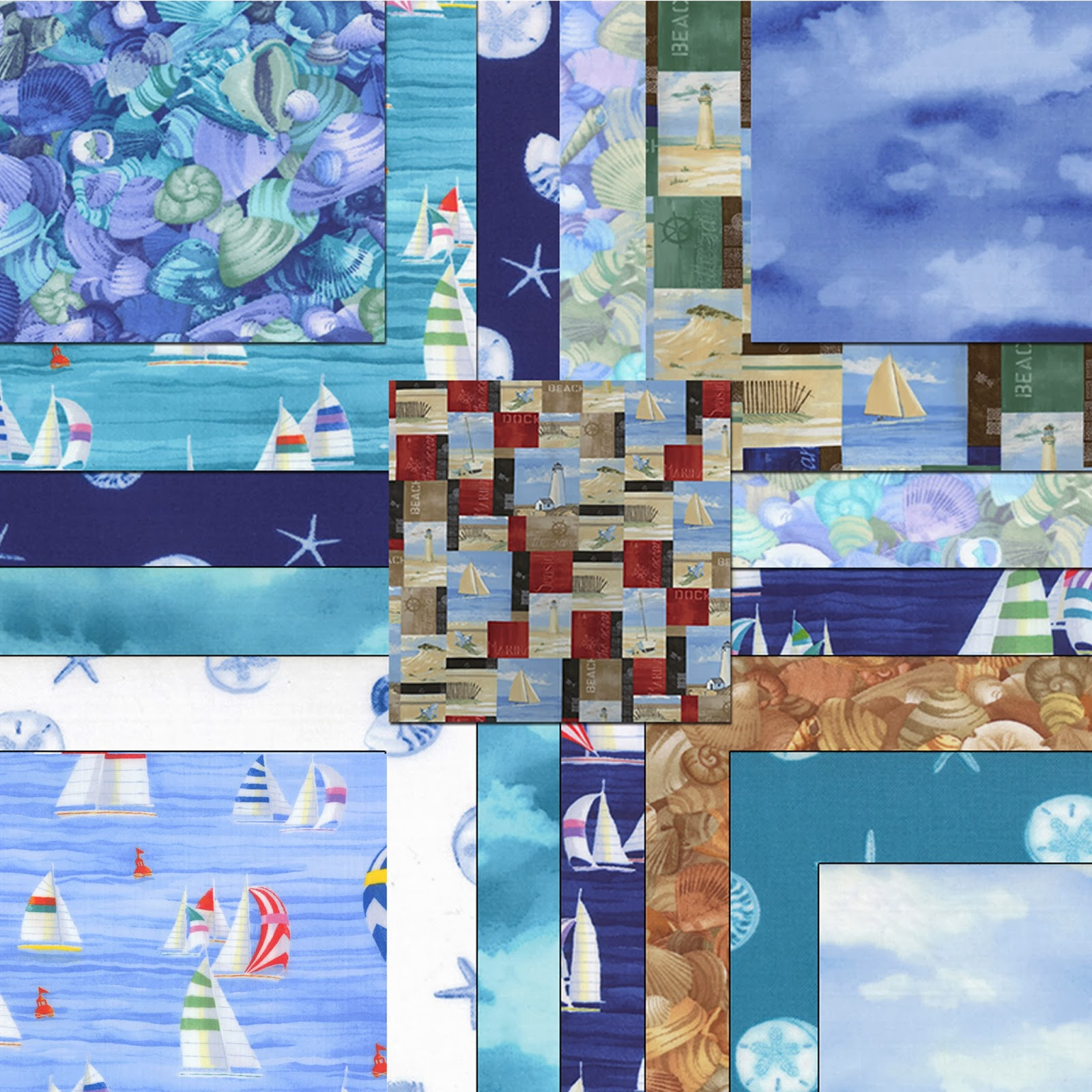 Moda COASTAL BREEZE Quilt Fabric by Paul Brent