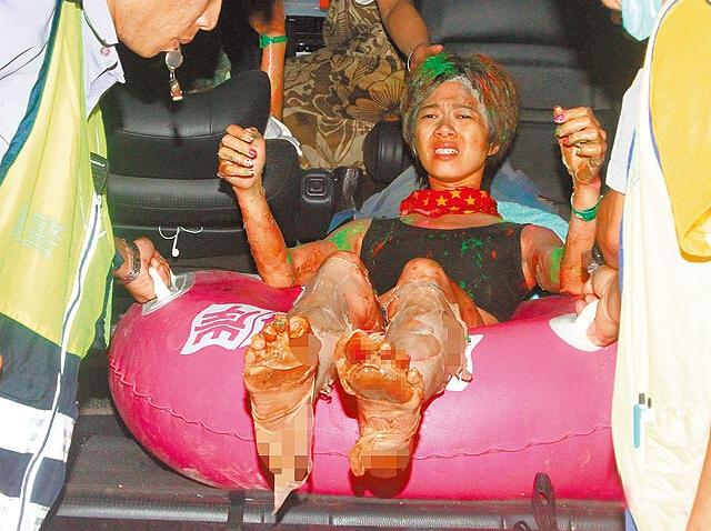 Korban Ledakan Di Sebuah Festival