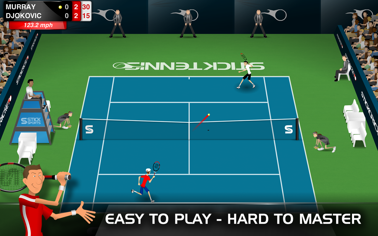 stick tennis mod apk modunlocked unlimited balls android apk