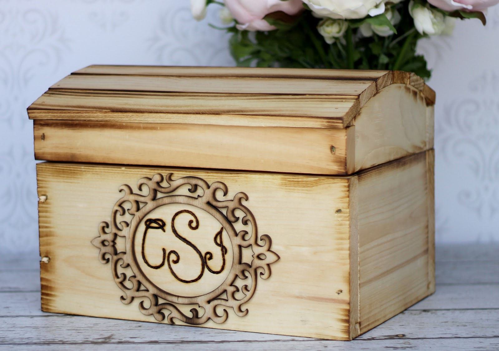 Morgann Hill Designs: Large Personalized Engraved Wood Wedding Card Box