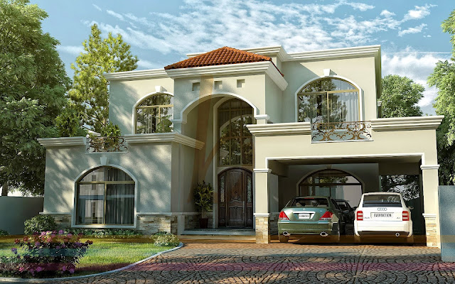 3d Front Elevation Lahore : D front elevation dha lahore kanal modern