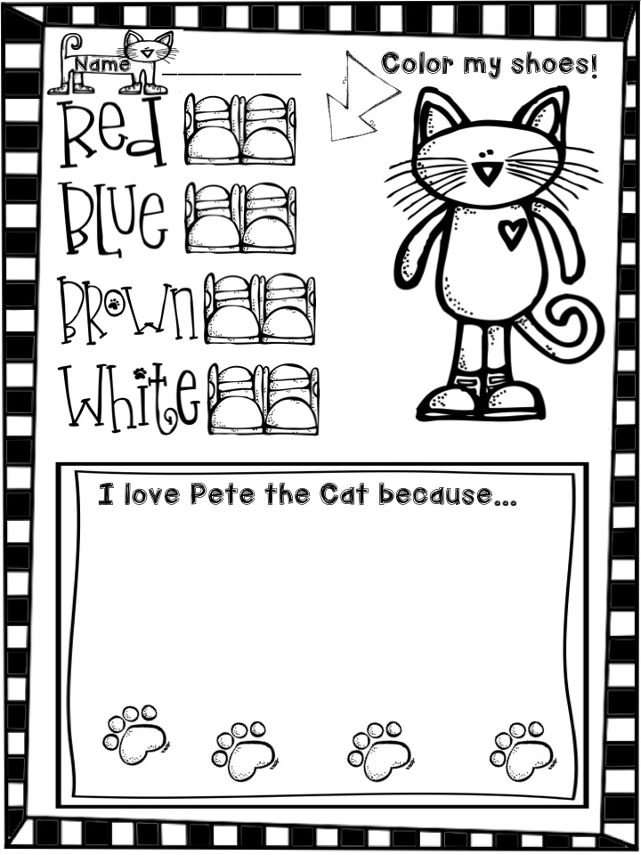 The Groovy Teacher Long Love Pete the Cat and a Freebie – Pete the Cat Worksheets