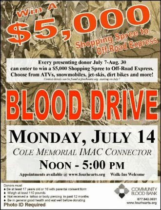 7-14 Blood Drive-Coudersport