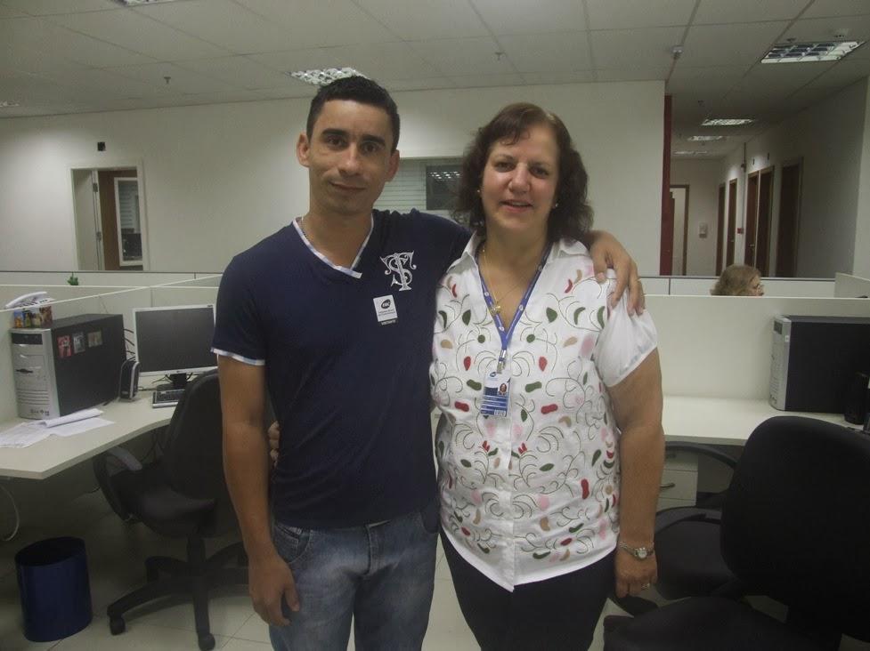 Joabe Reis e a locutora Sula Sevillis da rádio Nacional da Amazônia