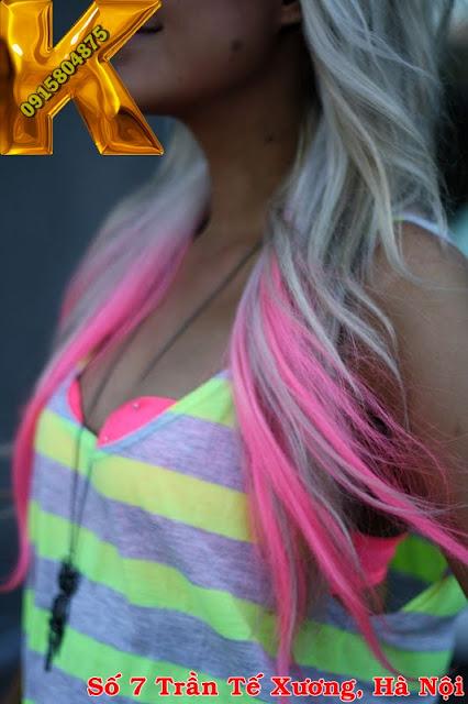 hair color, neon, highlight, nhuộm