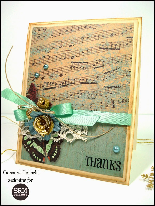 SRM Stickers Blog - Thanks Card by Cassonda - #card #thanks #thankyou #stickers #doilies