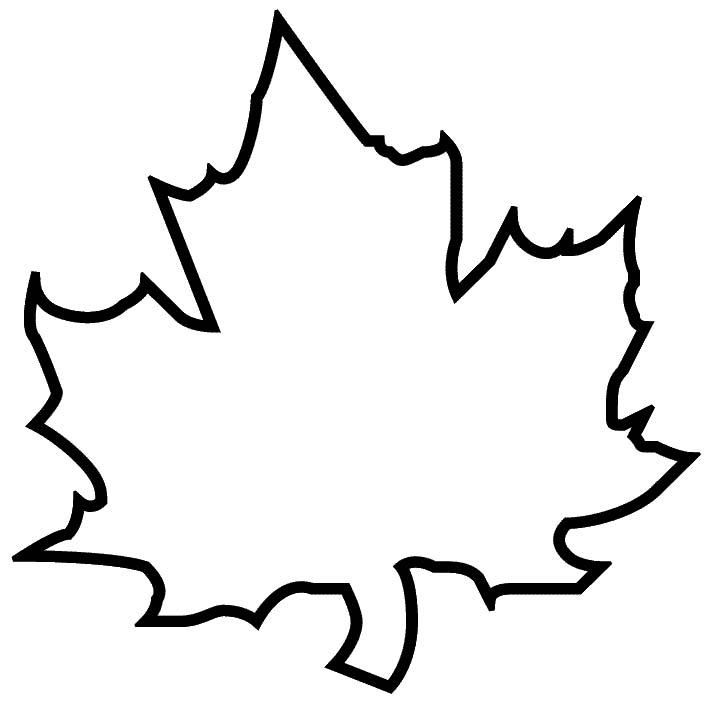 large maple leaf template - Leaf Templates