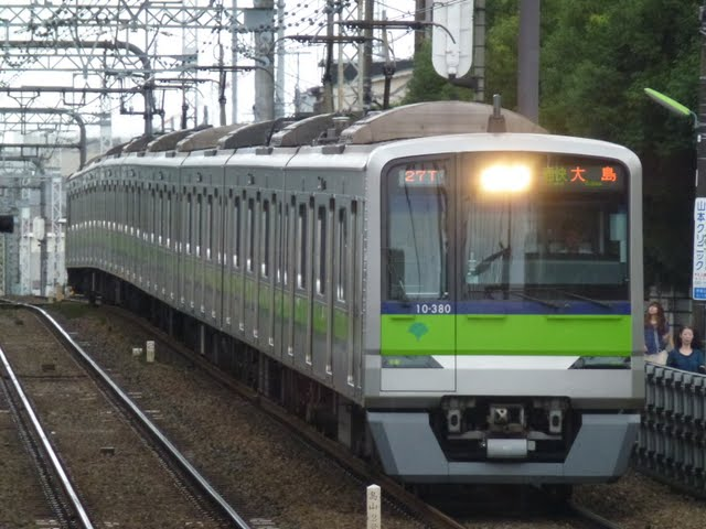 京王電鉄 通勤快速 大島行き4 都営10-300形(節電ダイヤに伴う運行)