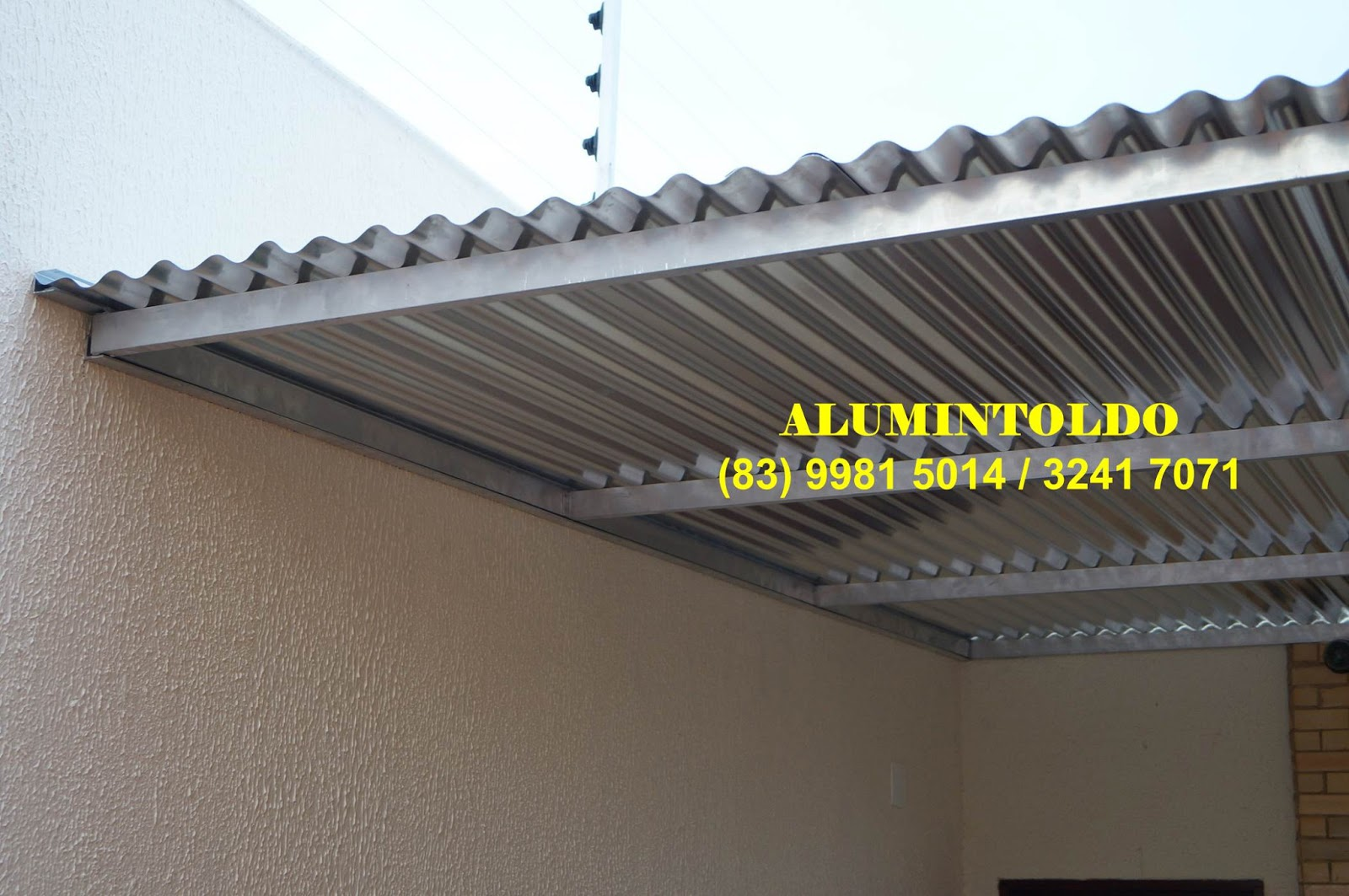 Toldo marquise em telha de alum nio for Materiales para toldos de aluminio