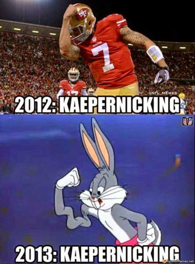 2012: kaepernicking. 2013: kaepernicking