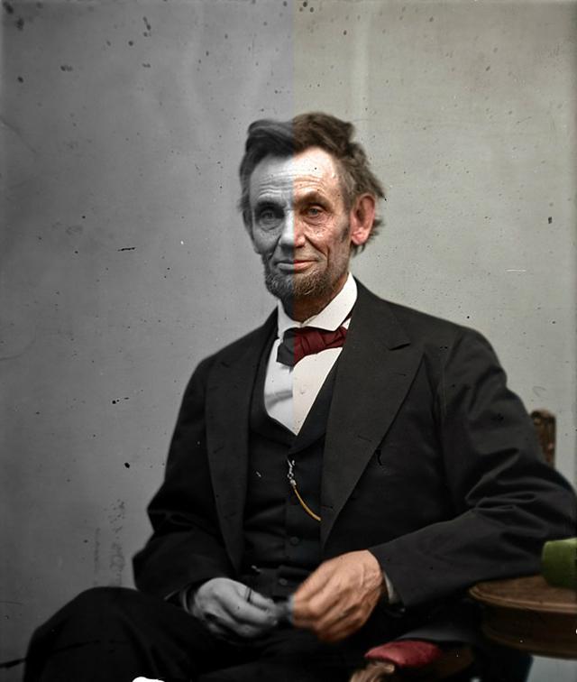 Раскрашенные исторические фотографии