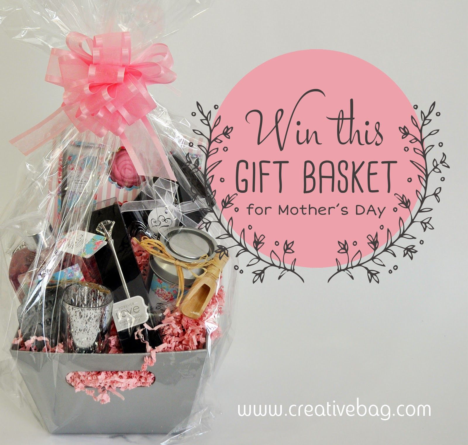 win this gift basket for Mother's Day 2014 from CreativeBag.com