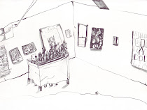 PENCIL IN THE STUDIO visits WAVERS - drawings by Maria Calandra