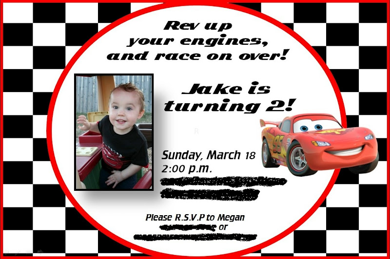 Jakes 2nd Birthday Cars Theme