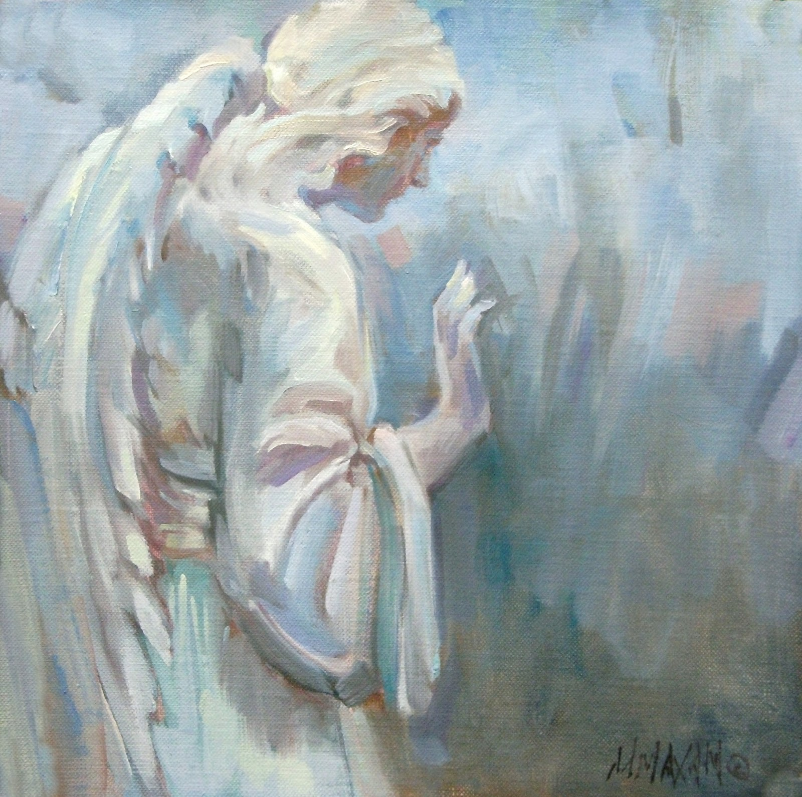 Abstract Oil Paintings Of Angels