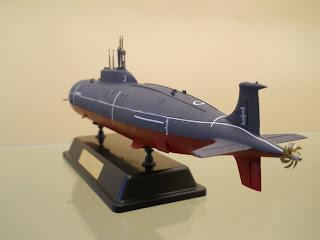 submarino nuclear soviético Akula II K-335