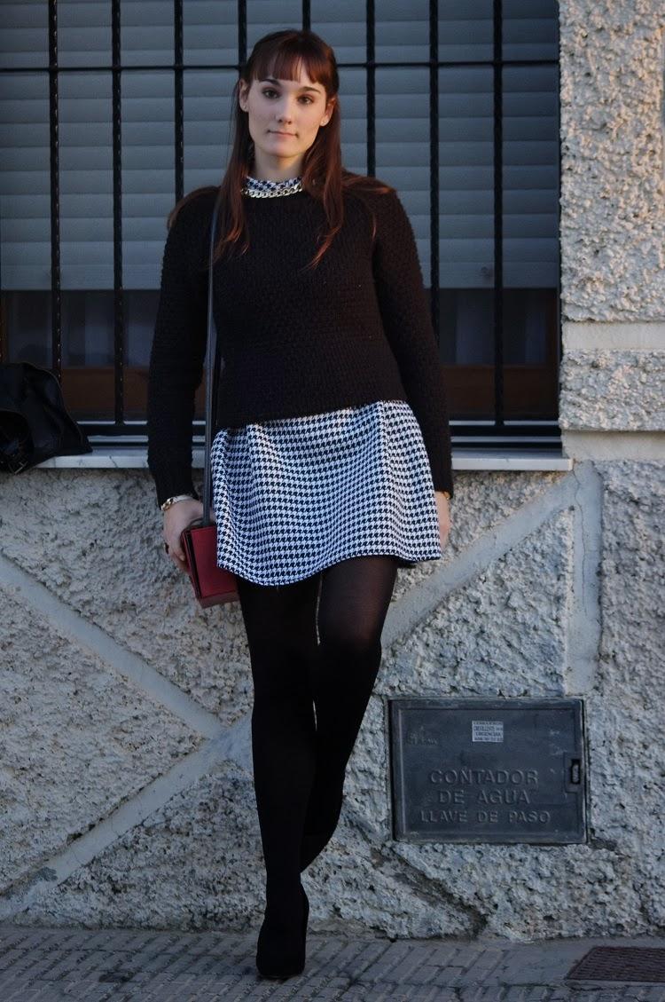 persunmall, http://www.persunmall.com, CyA, deichmann, primark, bySan complementos, pata de gallo, Vestido, look blanco y negro, look invierno, blog alicante, blog moda, tendencia,