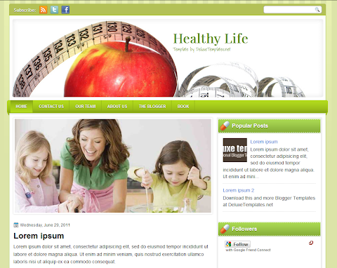 HealthyLife Blogger Theme