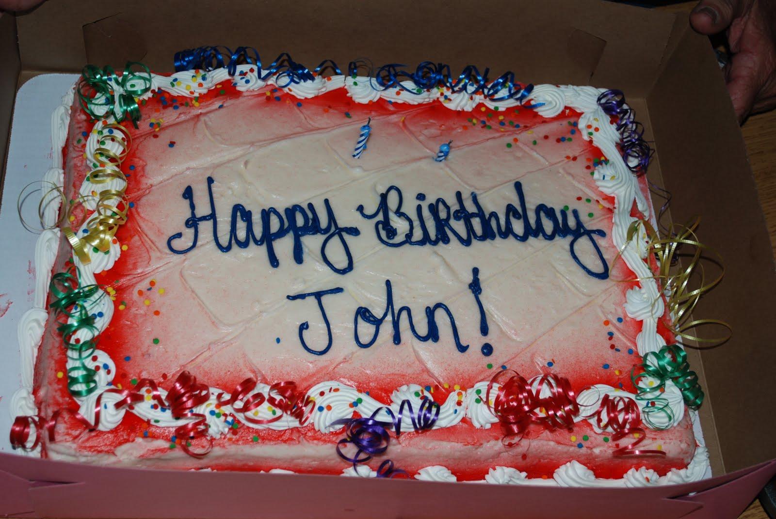 Birthday Cake Image For John : Stein Family: Happy Birthday, Grandpa John!