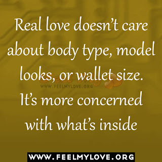 Real love doesn't care about body type